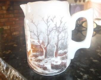 winter theme creamer porcelain