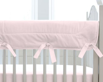 Girl Baby Crib Bedding: Solid Pink Crib Rail Cover by Carousel Designs