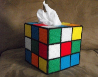 Rubiks Cube Tissue Box