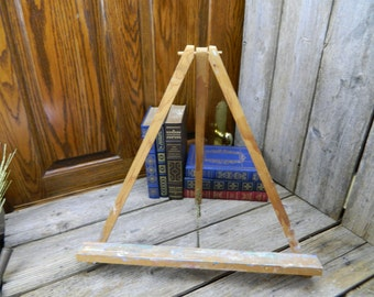 Vintage Mid Century Wood Table Top Painters Easel