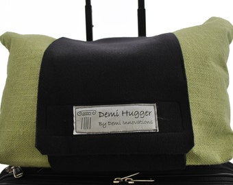 A premium luggage strap, Demi Hugger, that will make your travel easier. http://www.demihugger.com/  for video and pictures.