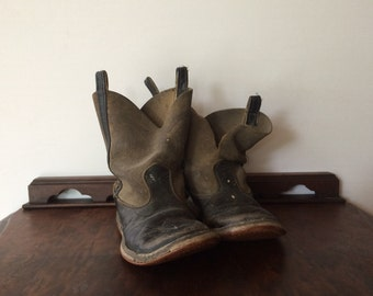 Vintage Child's Leather Cowboy Boots Western Wear