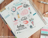 WC13 Beautiful Girl Weekly Collection Set for Erin Condren, Happy Planner, & More