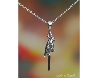 "Sterling Silver Parrot Necklace with 16-24"" Chain or Pendant Only .925"