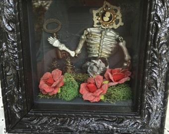 Victorian Halloween shadowbox picture