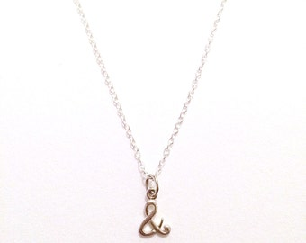 Sterling Silver '&' Ampersand Necklace