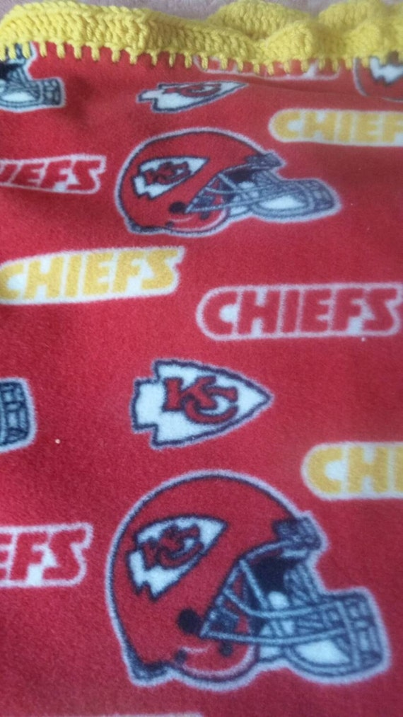 Crochet Pattern Kansas City Chiefs Afghan : Kansas City Chiefs Fleece and Crochet Blanket
