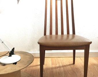 Vintage Retro Mid Century Wooden Chair x 2 1960s 1970s