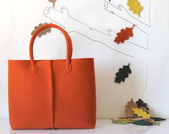 Elegant and Casual Felt Bag from Italy, Tote Bag, Felted bag, Felt Tote, Everyday Tote, Handmade bag,Gift For Her, Christmas Gift For Her
