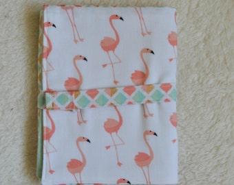 Portable Changing Pad//Flamingo//coral//