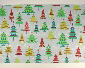 Set of 5 Placemats, Christmas Tree Placemats, Reversible Placemats