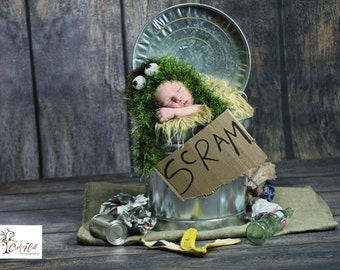 Newborn Oscar the Grouch~Baby Gift/Photo Prop