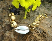 Ancient Gifts: Cowrie Shell and Chain Bracelet