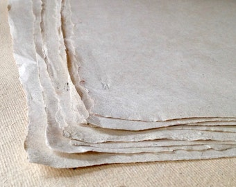 Full Sheets HEMP paper, 56 x 76 cm / 22 x 29.5 inches  Indian handmade paper, natural Sunn Hemp fibre Islamic paper from India, 90 gsm