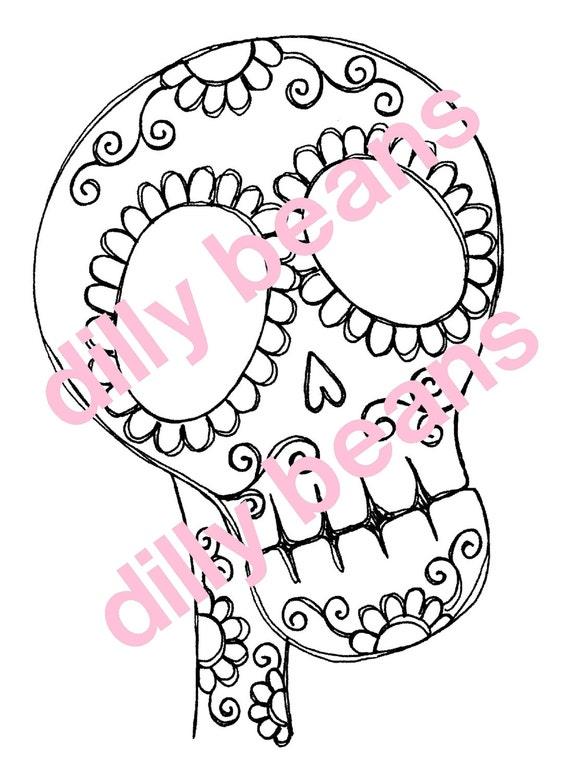 Sugar Skull Framed Digi stamps #231 Dilly Beans by Megan ...