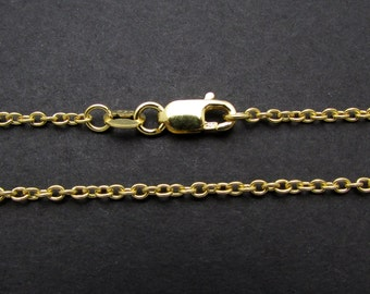 """1 Pc, 18"""", 24k Gold Vermeil  Chain Necklace"""