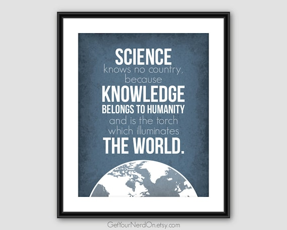 inspirational quote science class art nerd gift ideas
