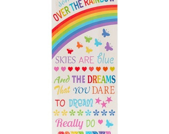 somewhere over the rainbow wooden sign