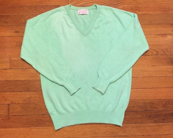 Vintage Mint Green Pullover Sweater