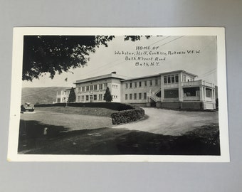 BATH NY VFW Post Card,Post 1470 vfw post card,Vintage Collectible Black and White Post Card,New York postcard,vintage ephemera, souvenir