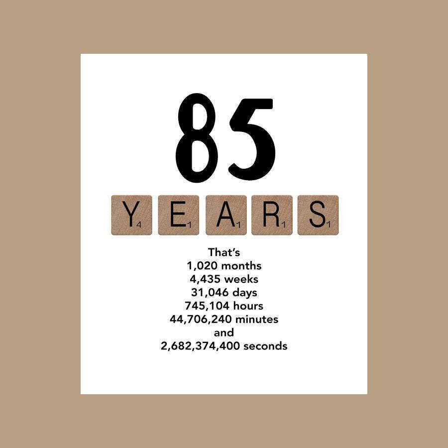 85th Birthday Card The Big 85 1931 Birthday Card Milestone – 85th Birthday Cards