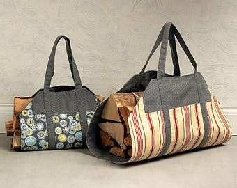 Sewing Pattern - Craft Pattern, Wood Tote with Heavy Duty Stitching and Handles  - Item#K4150