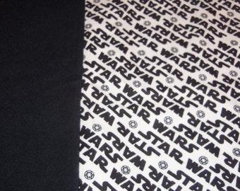 Pillowcase Star Wars Logo Flannel Fabric Black White