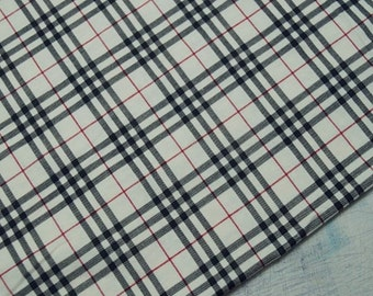 Cotton Jersey Knit Fabric Plaid By The Yard