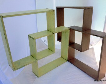 Pair of Vintage Wall Knick Knack What not Collectible Shelves