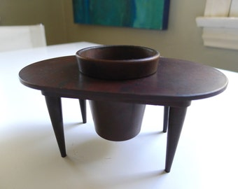 Art Deco, Small Bakelite Planter and Stand