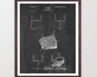 Football Poster - Football Art - Old Football - Football - Field Goal Patent - Vintage Football - Football Wall Art -
