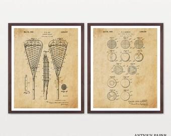 Lacrosse Patent Set - Lacrosse Art - Lacrosse Wall Art - Lacrosse Poster -Lacrosse Print - Lacrosse Patent Print - Lacrosse Stick - Lacrosse