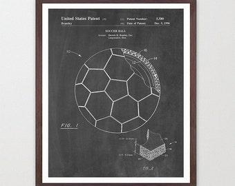 Soccer - Soccer Poster - Soccer Ball Poster - World Cup - World Cup Art - World Cup Poster - Soccer Wall Art - Soccer Patent