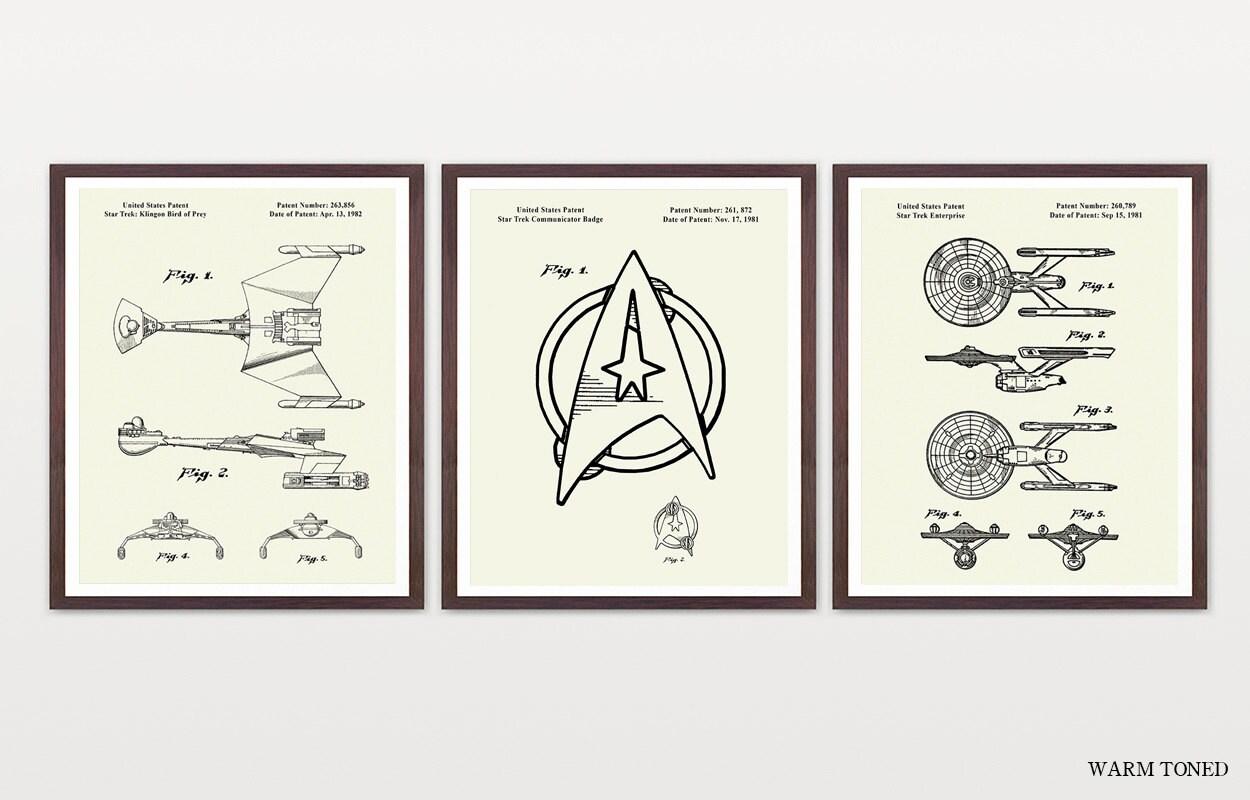 star trek patent star trek art star trek enterprise star