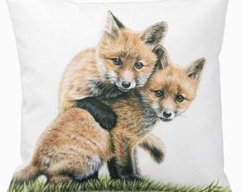 Fox Kids Pillow cover 40 x 40 cm - Fox Puppies