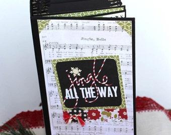 Paper bag Scrapbook Mini Album Premade Christmas Scrapbook, Interactive Album, Memory book