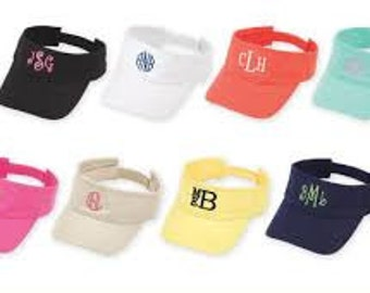 Visor  Hat with Monogram