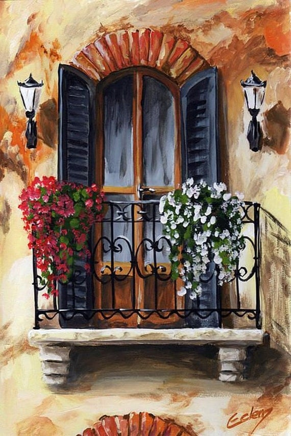 Items Similar To Balcony Of Cremona Counted Cross Stitch