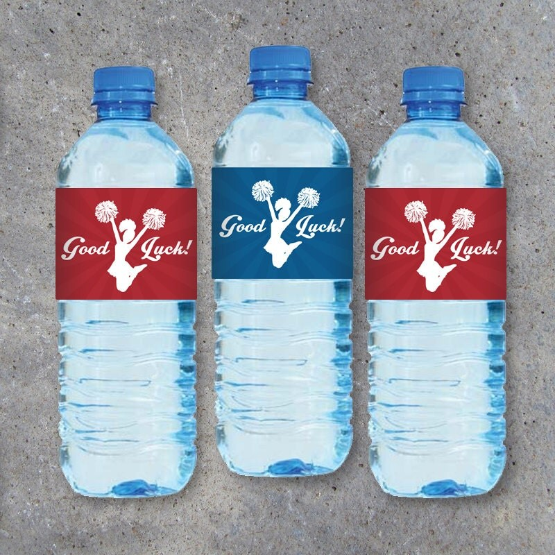 cheerleading water bottle labels featuring good With cheerleader water bottle labels