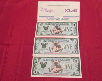 1988 Disney Dollars featuring Mickey Mouse