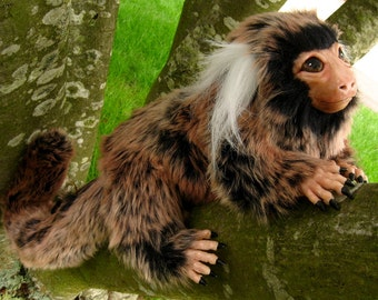 Marmoset monkey OOAK posable art doll