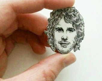 Josh Groban/ Grobanites/Illustrated Charm Necklace/Pin/Necklace Charm