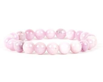 Kunzite Bracelet, Natural Gemstone Bracelet, Handmade Jewelry, Women's Fashion, 8mm Kunzite