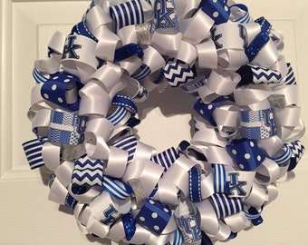 Handmade MINI University of Kentucky Ribbon Wreath