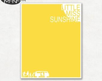 LITTLE MISS SUNSHINE Minimalist Movie Poster, Fine Art Print