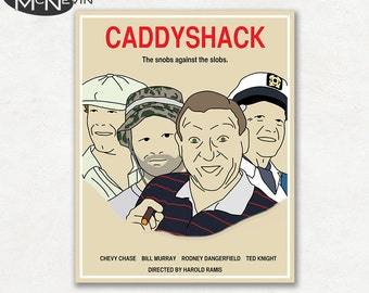CADDYSHACK Movie Poster, Fine Art Print
