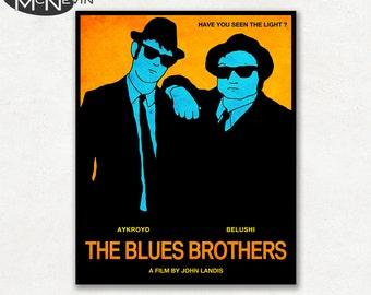 BLUES BROTHERS Movie Poster, Fine Art Print - Orange