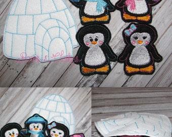 Penguin Finger Puppet Set
