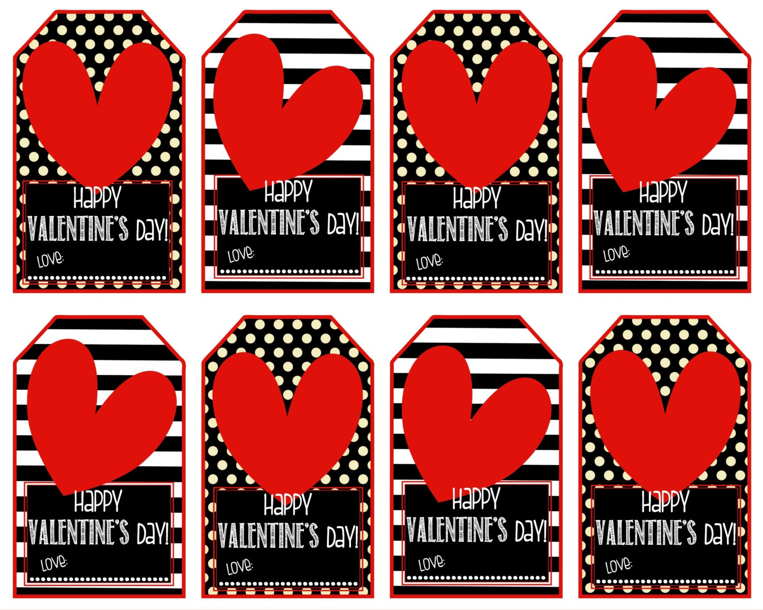 This is a picture of Fabulous Printable Valentine Tag