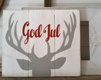 God Jul - Swedish Christmas sign